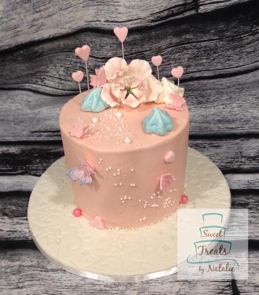 Pink Buttercream cake