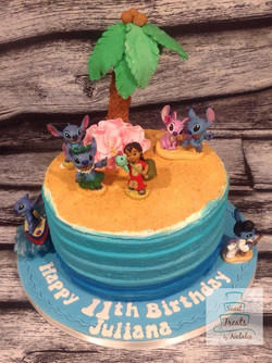 Stitch themed cake