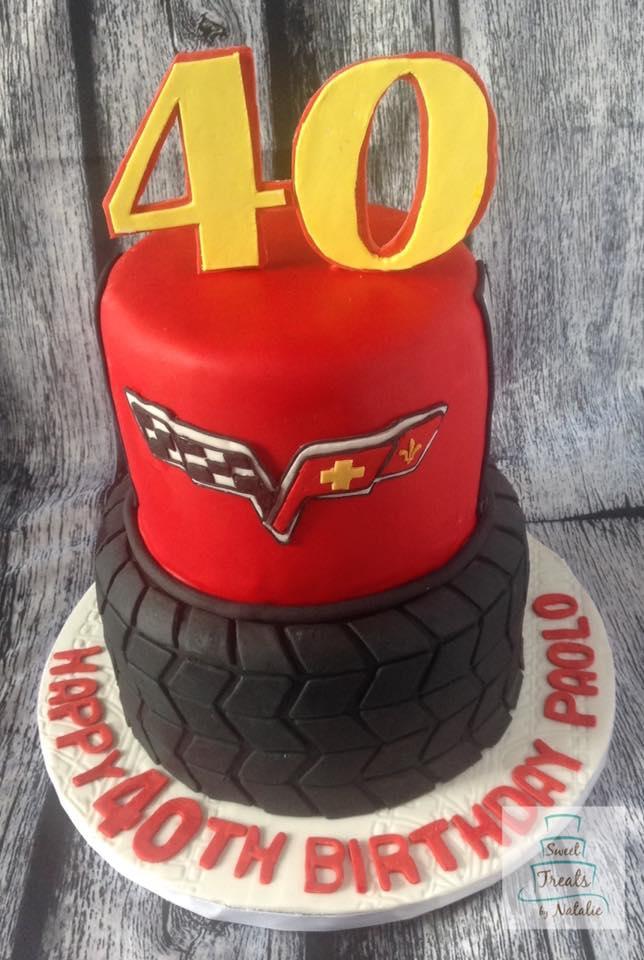 Corvette tire cake