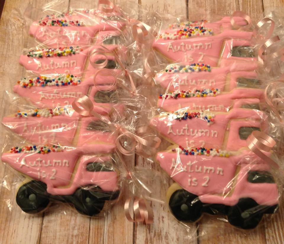 Pink dump trucks