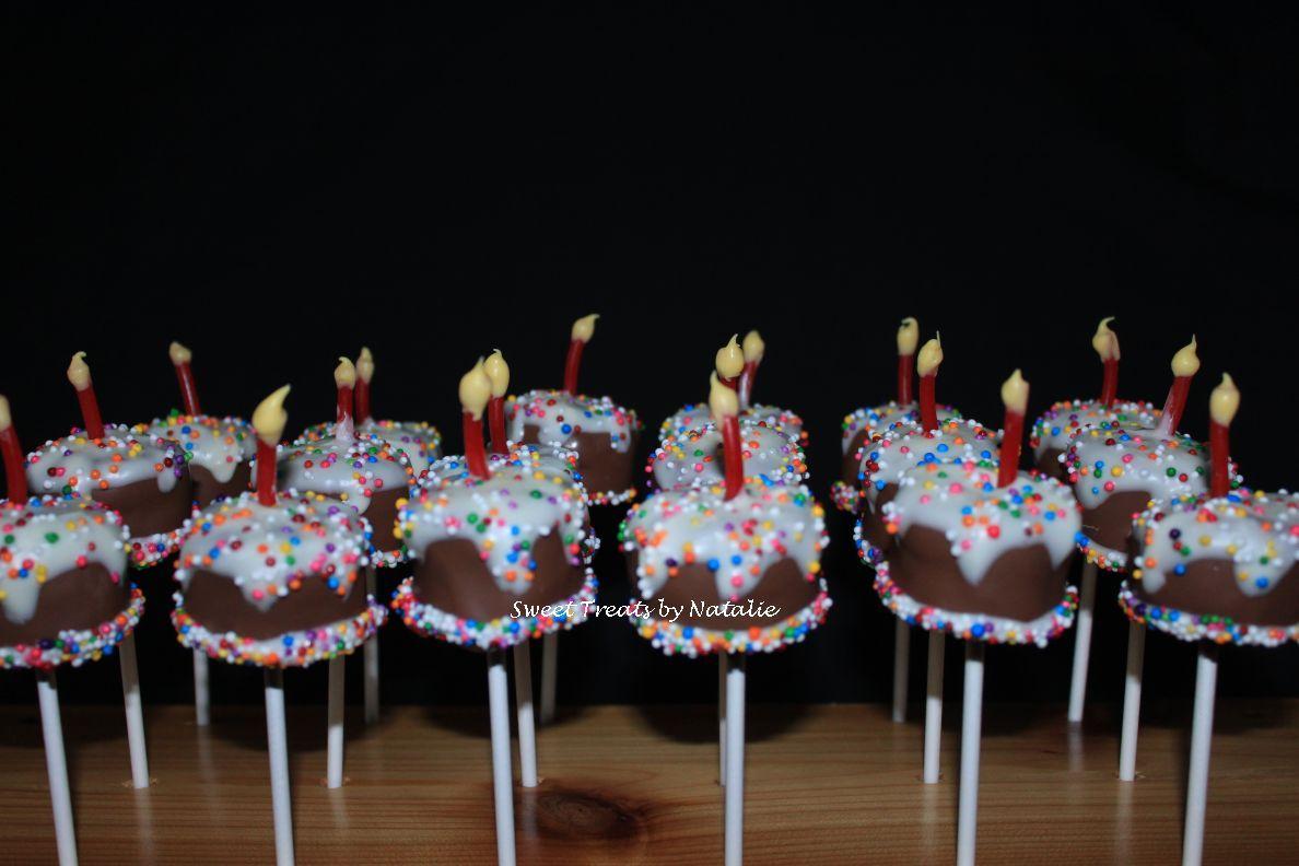 'Birthday cake' cake pops