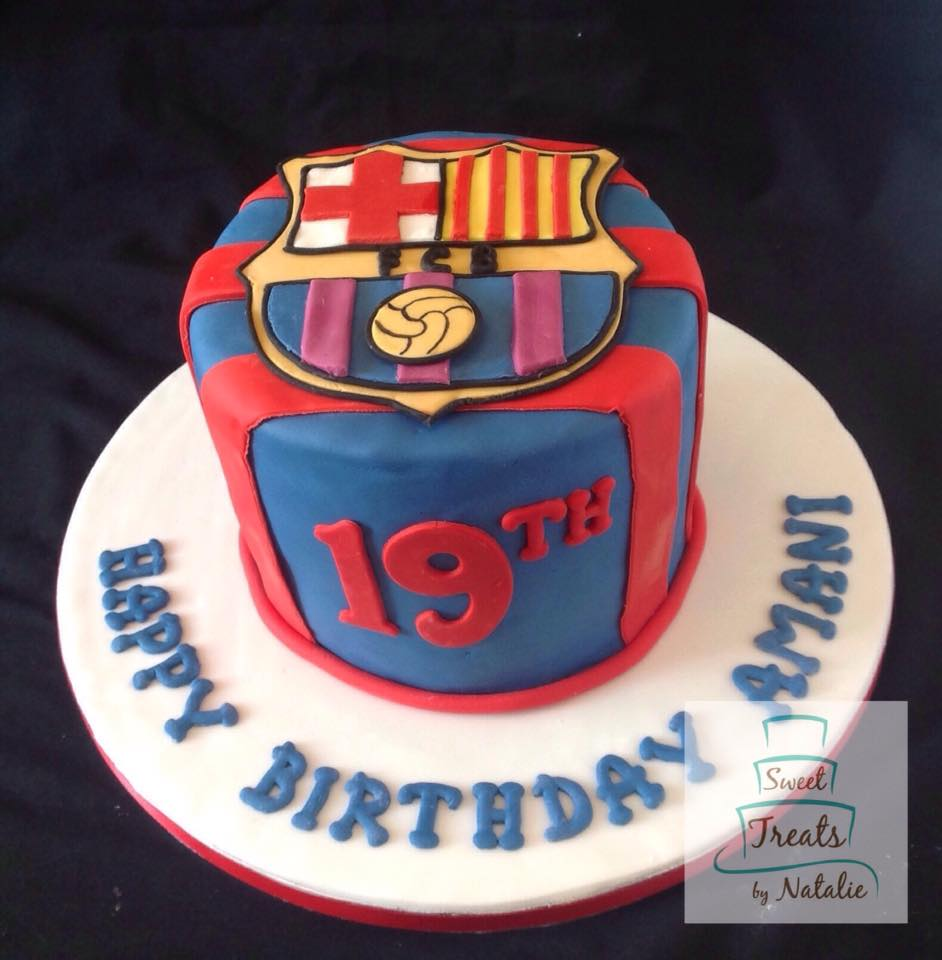 FC Barcelona soccer cake
