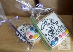 Easter themed PYO cookies