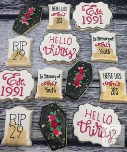 30th Birthday cookies