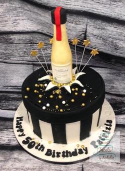 Teremana bottle gift box cake