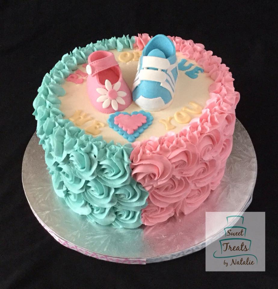 Buttercream Gender Reveal cake