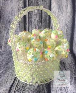 Easter sprinkle cakepops
