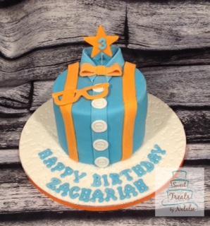 Blippi themed cake
