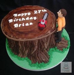 Arborist birthday cake