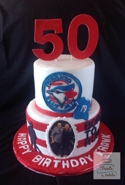 The Boss & the Blue Jays 50th cake