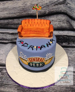 Friends themed cake