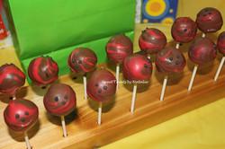 Bowling ball cake pops
