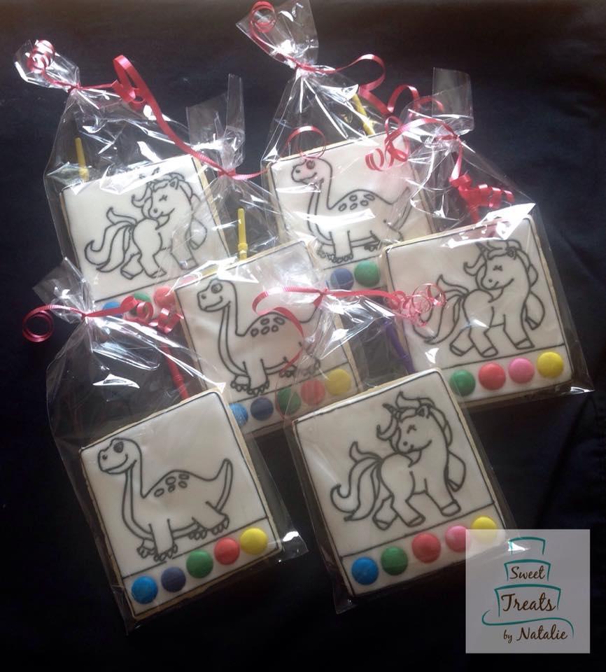 Dinosaur & Unicorn PYO cookies