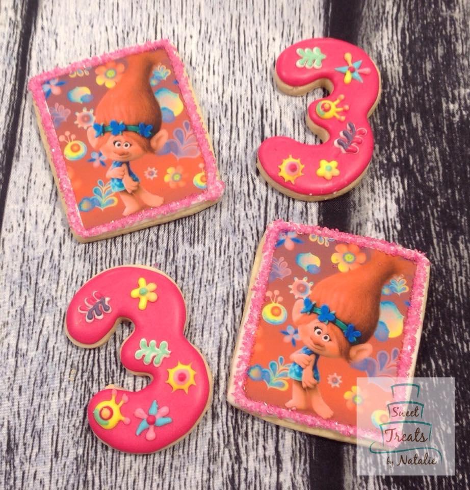 Trolls Poppy edible image cookies
