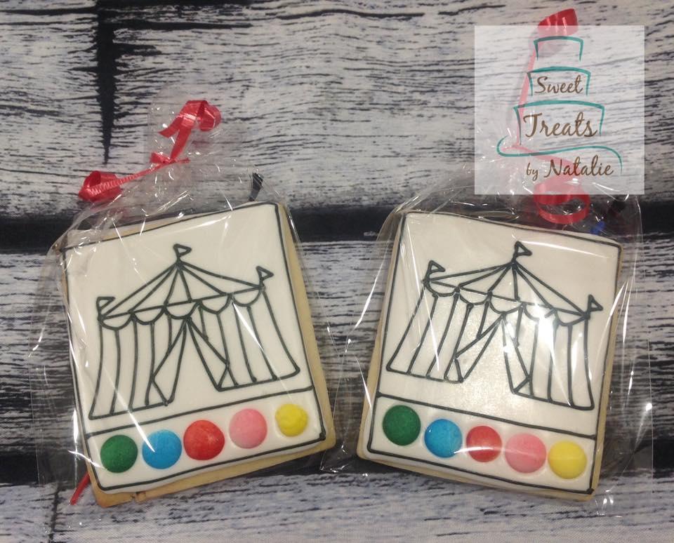 Circus tent PYO cookies