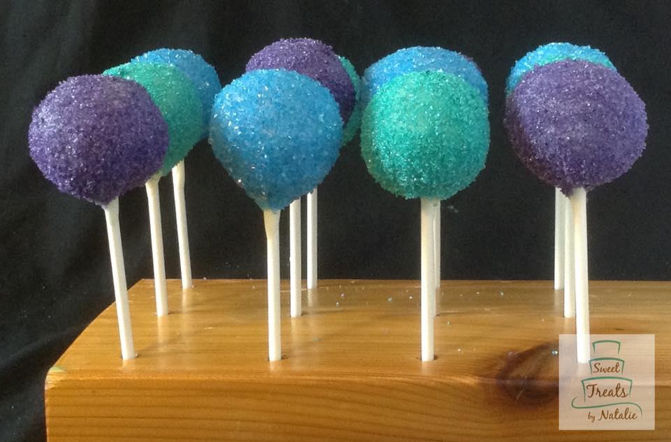Purple, green & blue sanding sugar