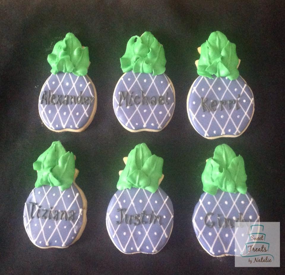 Purple pineapple cookies