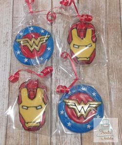 Iron Man & Wonder Woman cookies