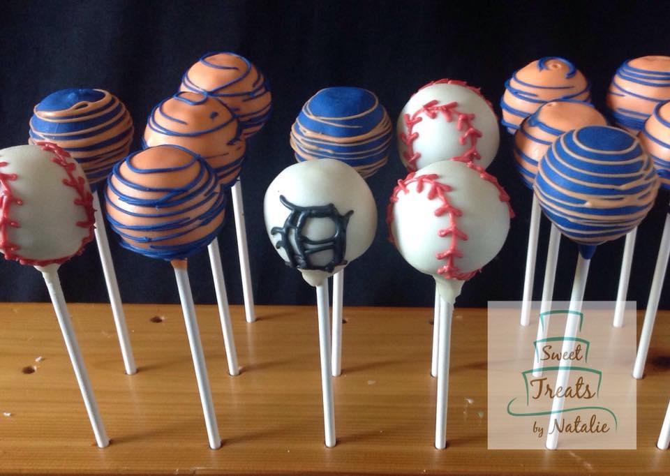 Detroit Tigers Baseball cakepops