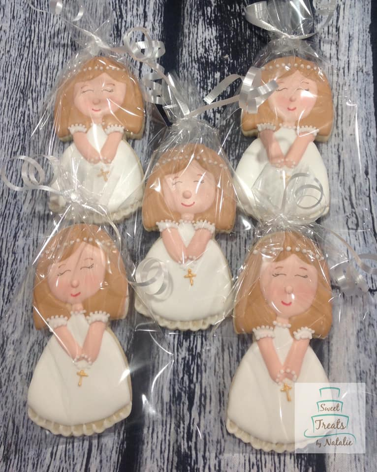 First Communion girl cookies