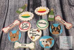 Bulldog themed cookies