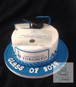 Diploma Graduation cake