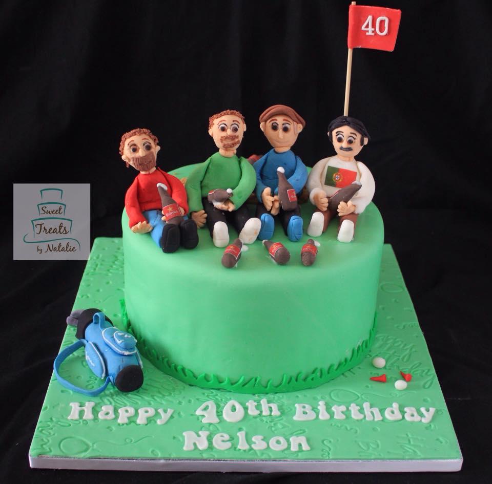 Golfing with the boys birthday cake