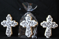 Large crosses with dove images