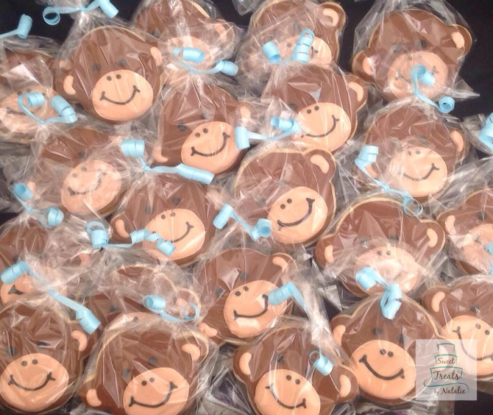 Little Monkey baby shower cookies