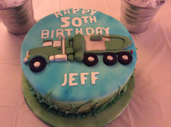 Jeff's truck 50th birthday cake