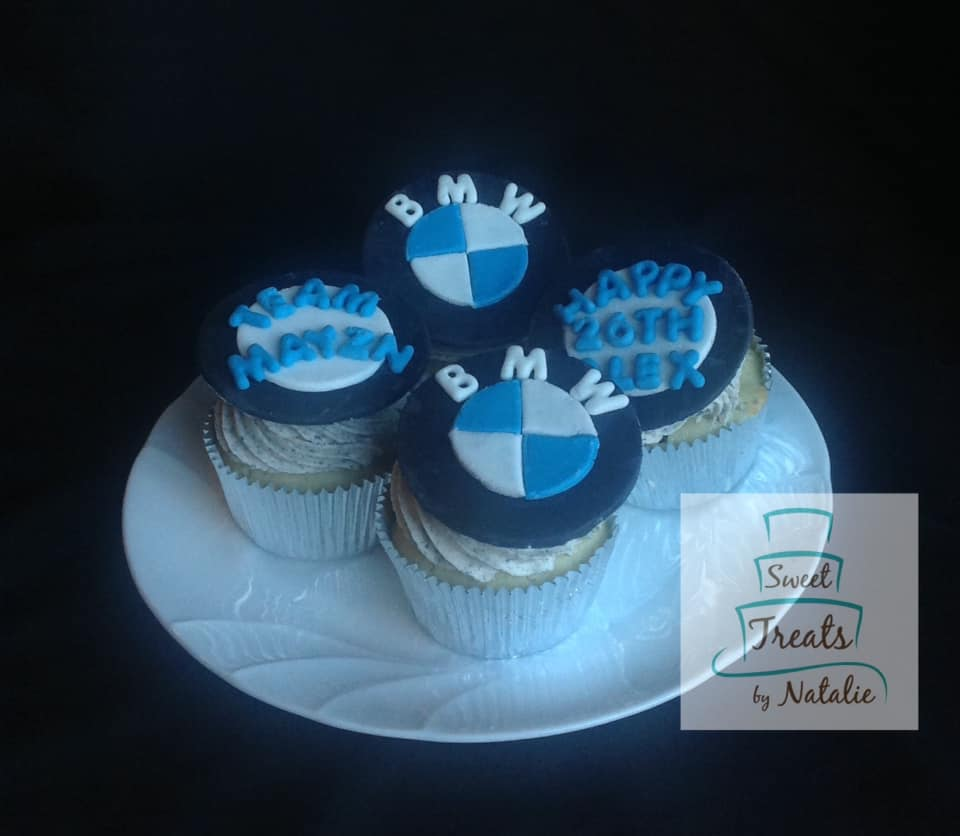 BMW themed cupcakes