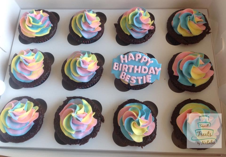Multi-colour Swirl cupcakes