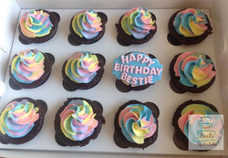 Multi-colour Swirl cupcakes