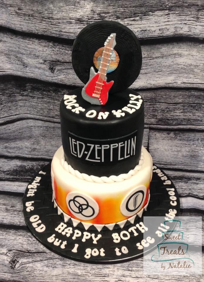 Led Zeppelin themed cake