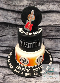 Led Zeppelin themed cake
