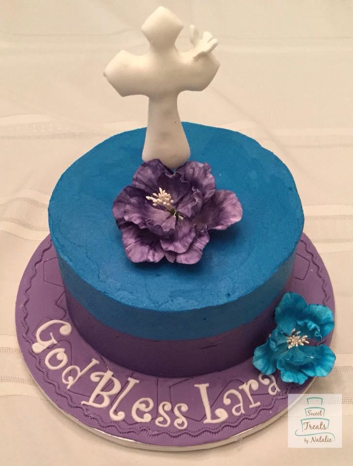 Buttercream blue & purple