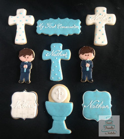 First Communion boy cookies