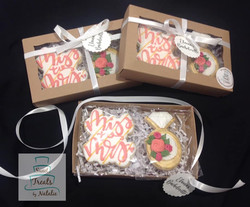 Bachelorette cookie gift boxes