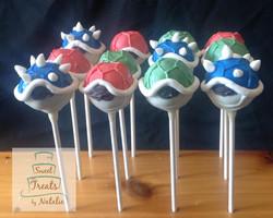 Mario Cart Koopa Shell cake pops