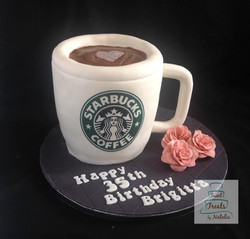 Starbucks coffee mug cake