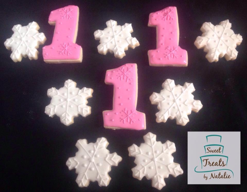 Snowflakes & #1 cookies