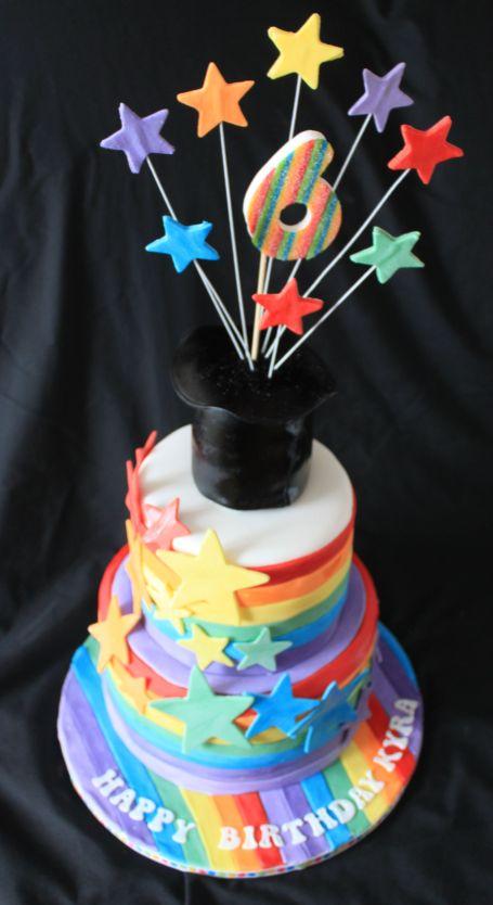 Rainbow top hat