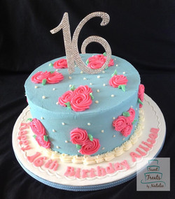 Sweet 16 buttercream cake