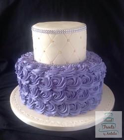 Purple buttercream rosettes