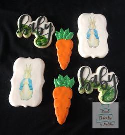 Peter Rabbit Baby Shower Cookies