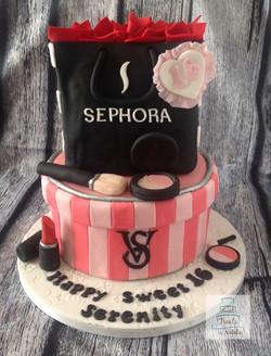 Victoria Secret/Sephora cake