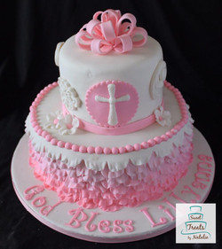 Pink Ombre Baptism