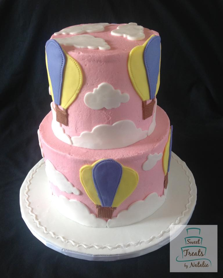 Hot Air Balloon themed cake