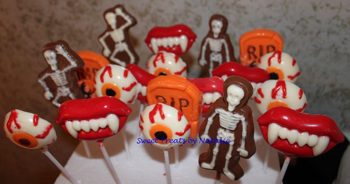 Halloween chocolate lollipops