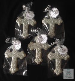 Silver & white crosses